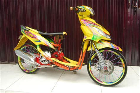 Modif Mio Sporty Balap by Modifikasi Yamaha Mio Sporty Mio Matic Terkeren Simple Acre