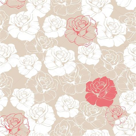 cute vintage pattern background seamless retro vector floral pattern with classic white