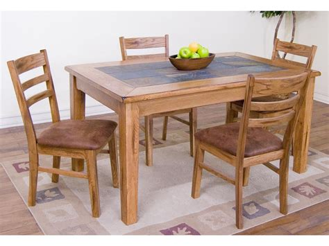 designs dining room sedona table with slate top