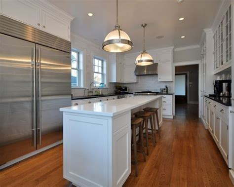 narrow kitchen design with island narrow kitchen island houzz