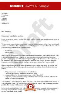 At Risk Of Redundancy Letter Template Redundancy Consultation Letter Arrange A Redundancy