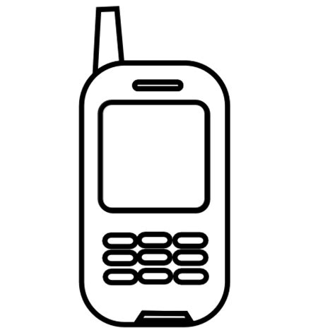 free black mobile cell phone mobile phone clipart black and white clipart