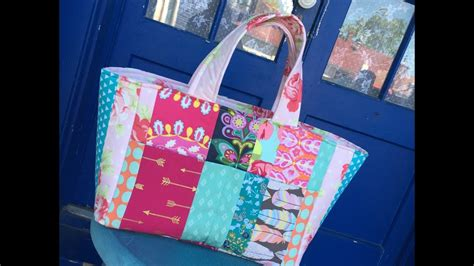tote bag pattern free youtube how to sew a patchwork tote bag sewing tutorial and