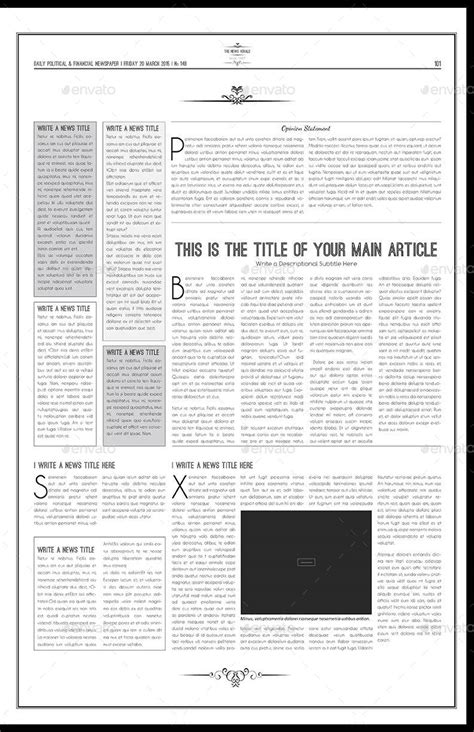 tabloid template newspaper template tabloid by keboto graphicriver