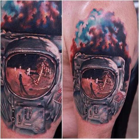 astronaut tattoos by rich pineda astronaut tattoos