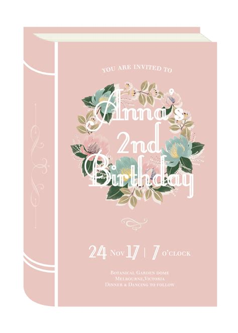 invitation design adelaide once upon a time dp birthday invitations