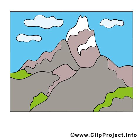 clipart montagna berg clipart