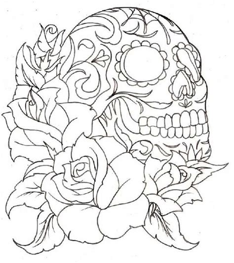 day of the dead sugar skulls coloring pages sugar skull coloring pages bestofcoloring com