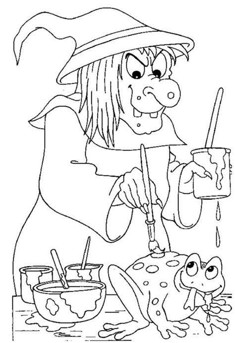 scary halloween witch coloring pages ugly witch face pages coloring pages