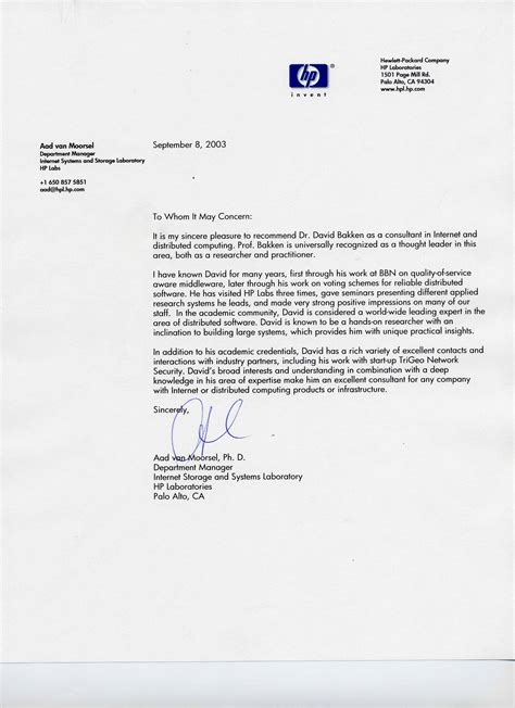 Recommendation Letter For Technical Consulting Letters Of Reference For Dr