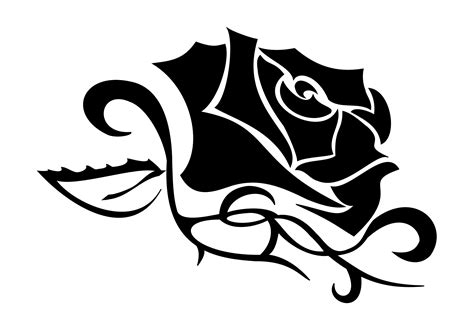 black rose tribal tattoo rosa tribal clipart best