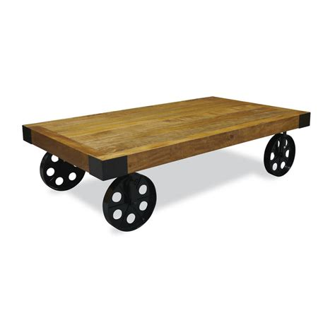Coffee Tables Wheels Industrial Vintage Coffee Table With Wheels By The Orchard Furniture Notonthehighstreet