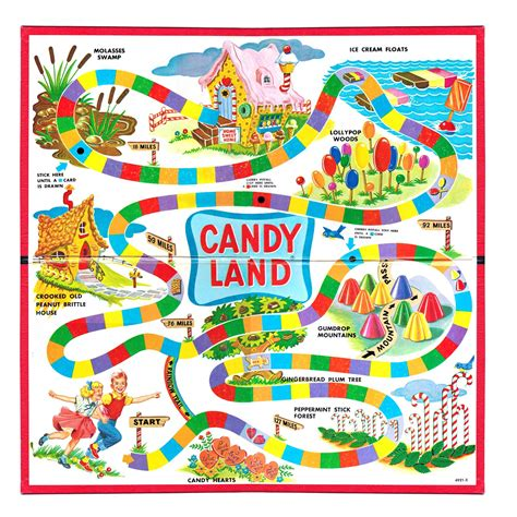 candyland cards template when did the board candyland come out