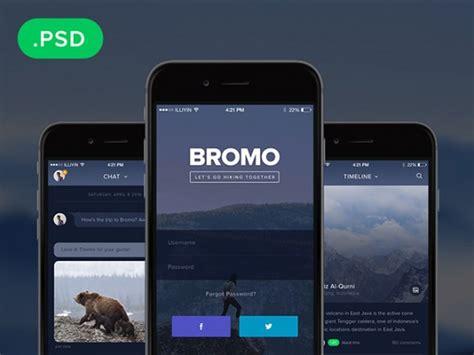 mobile splash screen templates bromo social mobile app template freebiesbug