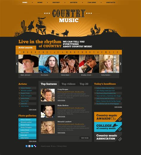 Music Website Template 32507 By Wt Website Templates Best Website Templates For Musicians