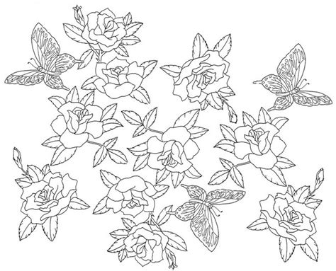 coloring pages japanese flowers adult coloring page japan japan roses and butterflies 7