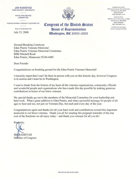student congress resolution template file congressman ramstad letter jpg