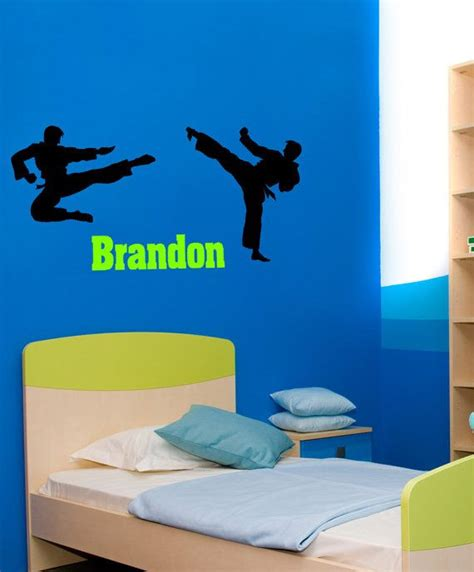 martial arts bedroom karate wall decal martial arts sticker boys room name