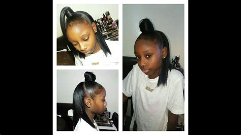 How To: Half up Half down Sew in (Appropriate For Little