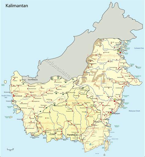 Borneo Kalimantan peta kalimantan world map
