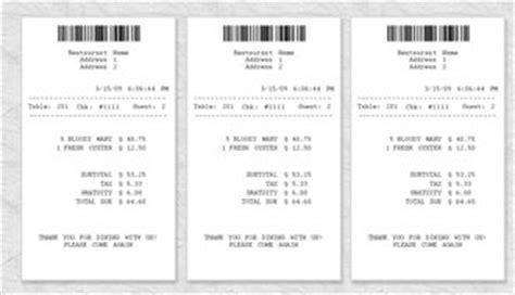 blank restaurant receipt template receipt template