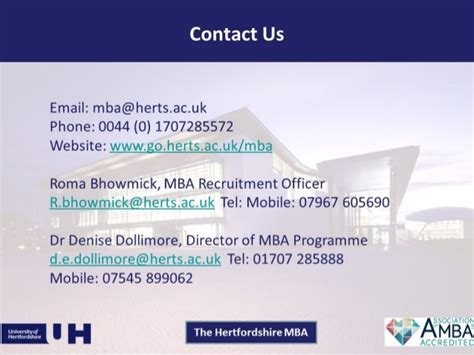 Mba Recruitment Uk by Why Choose The Hertfordshire Mba