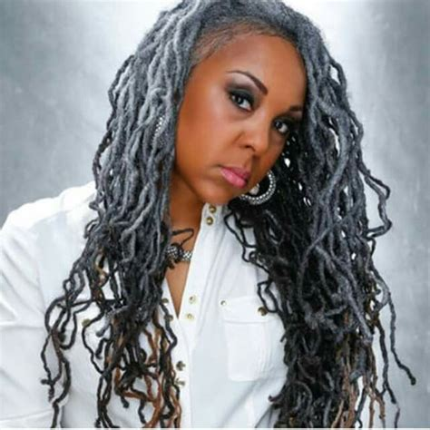 dreadlocks with gray hair 17 best images about sisterlocks dreadlocks locs and