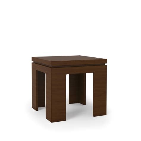 accent side tables bridge 1 0 nut brown modern accent end table by manhattan