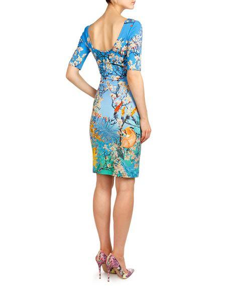 Ramora Dress katrantzou ramora plie jersey dress blue multi