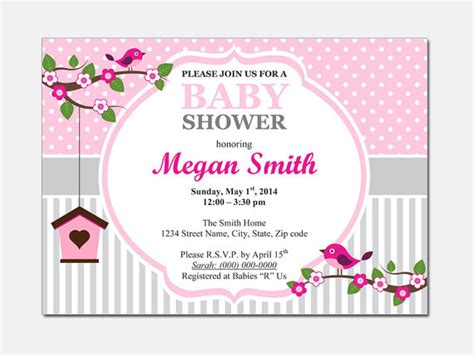 microsoft templates for baby shower birds baby shower invitation diy printable by designtemplates