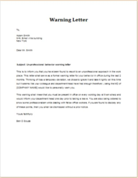 Apology Letter To For Insubordination sle of warning letter to employee for being late letters to staff page 3 of 5 bizorbhow get