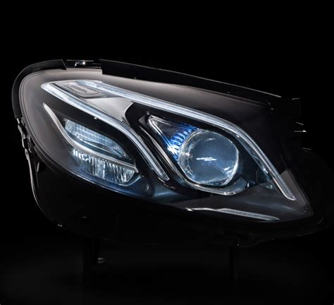 mercedes led headlights multibeam led headls in mercedes e class get dot award