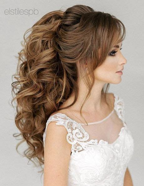 Wedding Hairstyles Ponytail Updos by 1000 Ideas About Curly Wedding Hairstyles On