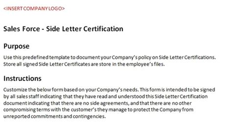 Sle Letter For Product Certification Sales Side Letter Certification Accounting Template