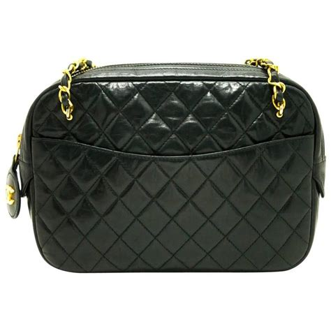 Black Quilted Chanel Bag With Chain by Chanel Vintage Small Chain Shoulder Bag Black Quilted