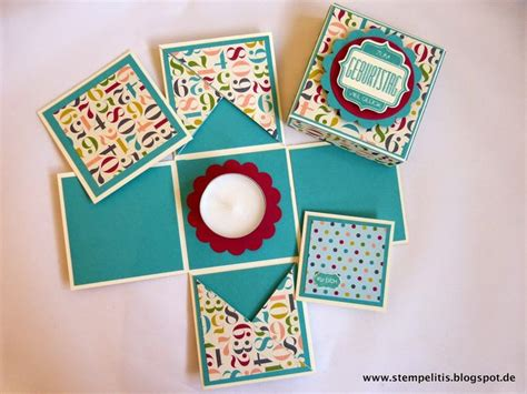 Explosion Box Blue Cupcake 81 best images about explosionsbox on gift