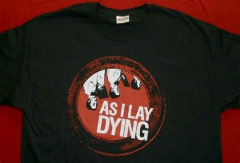 As I Lay Dying 16 T Shirt Size M as i lay dying t shirt choir logo black size medium