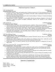 Sle Resume Of A Financial Analyst by Resume Financial Analyst Clearance Doc