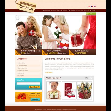 website templates for gift shop creative best website template psd for sale to create