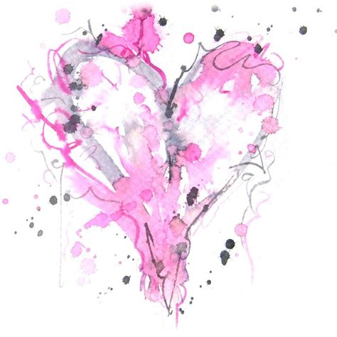 watercolor tattoo heart watercolor maybe
