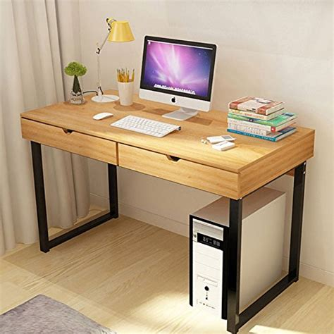 stylish computer desk tribesigns computer desk modern stylish 47 quot home office
