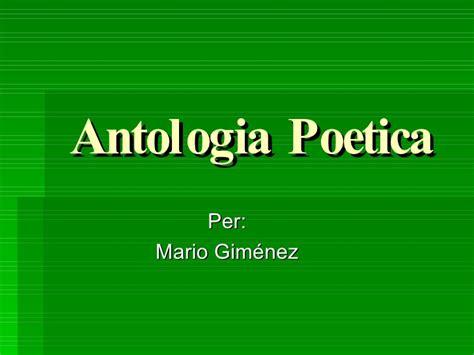 antologa potica antologia poetica