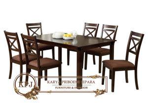 Kursi Makan Apollin Meja Silang Jati Furniture Kursi Tamu Nakas meja makan minimalis silang mebel jepara minimalis