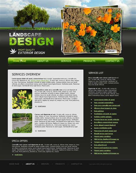 Landscape Design Website Template Id 300110026 Landscape Architecture Website Templates