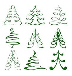 christmas trees sketch set vector by vladischern image