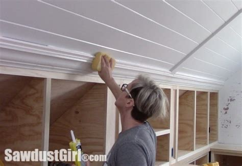 crown molding angled ceiling crown moulding on angled ceiling sawdust 174