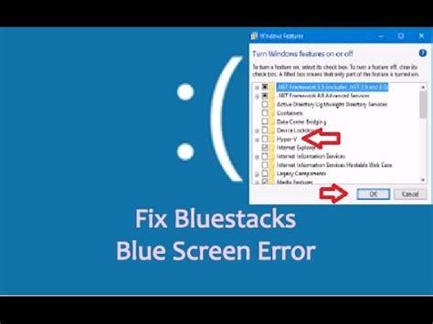 bluestacks error how to fix bluestacks blue screen error in windows 10