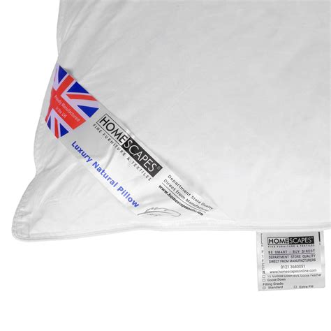 King Size Goose Pillows by Homescapes Feather Pillows Duck Goose V Shaped