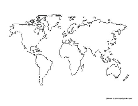 blank world map world map vector template copy world political map outline