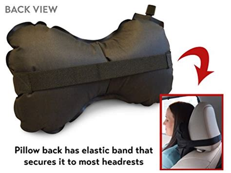 aircomfy travel pillow for car airplane or lumbar support